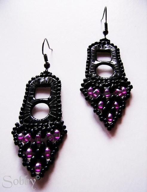 Twin Tab earrings by Sobby