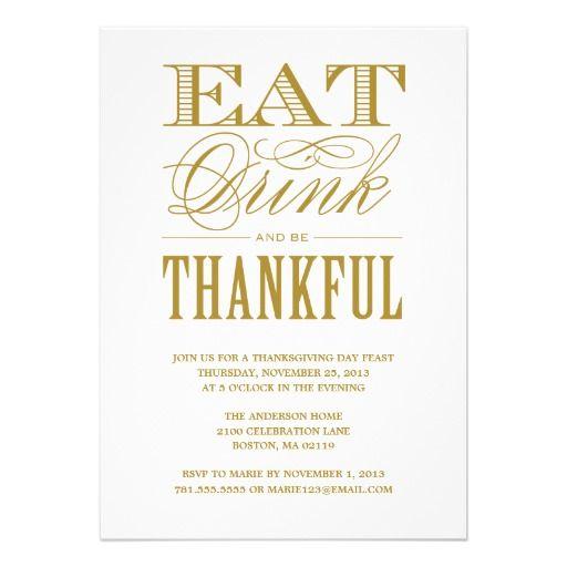 33 best thanksgiving gathering invitations images on pinterest be thankful thanksgiving dinner invitation stopboris Choice Image