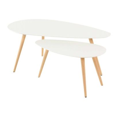 Tables basses gigognes blanches Pixy