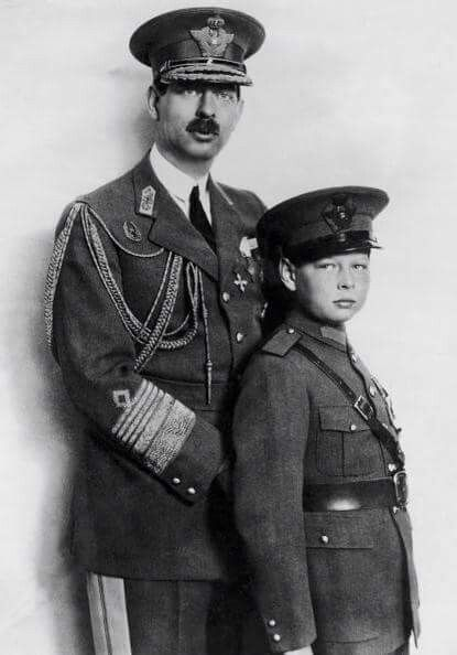 King Carol II and his son, later King Michael II of Romania