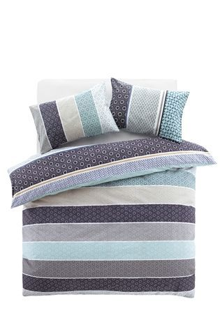 Buy 2 Pack Teal Origami Pattern Bed Set from the Next UK online shop