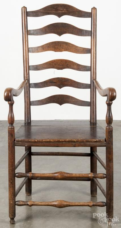 English oak ladderback armchair, early 19th c. - Price Estimate: $40 - $80  · Early AmericanAntique FurnitureArmchairsAuctionWing ... - 151 Best Chairs Images On Pinterest Antique Furniture, Carpets