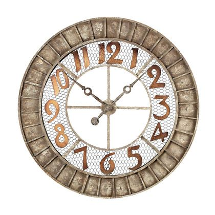 Sterling Industries Round Metal Outdoor Wall Clock.