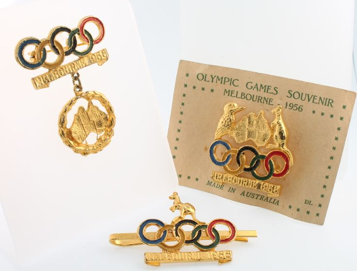 Lot 651, A 1956 Melbourne Olympic Games souvenir badge and 2 others, sold for £32