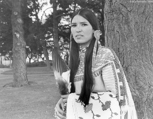 Sacheen Littlefeather is a Native American activist who donned Apache dress and presented a speech on behalf of actor Marlon Brando, for his performance in The Godfather, when he boycotted the 45th Academy Awards ceremony on March 27, 1973, in protest of the treatment of Native Americans by the film industry.