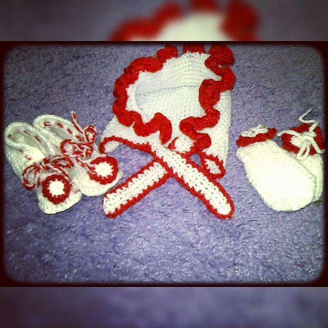 Bebek şapkası,eldiveni, patiği/ Baby hat,gloves.baby booties