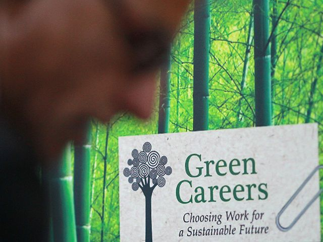 """""""Green"""" Jobs Training — $500 Million: After 2 yrs and hundreds of millions of fed dollars, job placement for the Green Jobs Program was only at 10 percent of the target level. Further, what qualifies as a """"green"""" job does not always match the high-tech, high-skill profile the Pres often touts. 33 times as many green jobs in the septic tank and portable toilet industry as  in solar electricity utilities, according to the BLS, as well as more green jobs selling used merch (eg. Salvation…"""