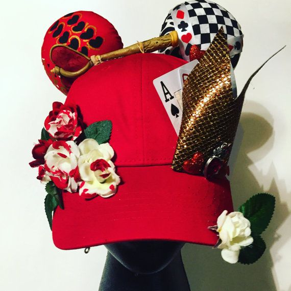 Red Queen Inspired Mouse Ear Cap