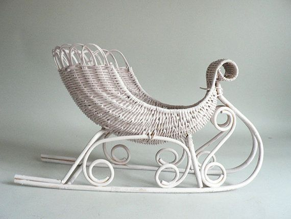 Wicker Decorative Sleigh