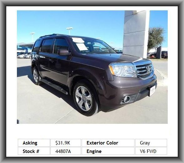 gas mileage on 2013 honda pilot