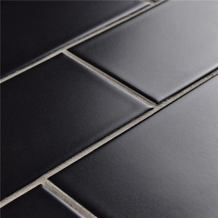 "3.88"" x 7.75"" Projectos Preto Matte Ceramic Wall/FloorTile"