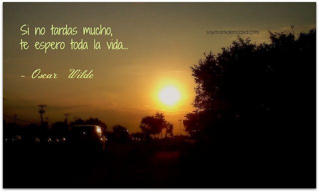 Frases Sobre La Vida: Si No Tardas Mucho, Te Espero Toda La Vida -Oscar Wilde