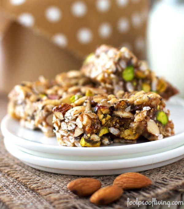 "Homemade ""Kind"" Breakfast Bars finally found a granola bar on pintrest that worked! these were great and not too hard. held together also & great flavor & crunch. didn't need the extra stevia @ the end, I used agave & that was plenty."