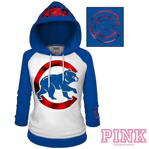 Chicago Cubs Victoria's Secret PINK® Raglan Pullover Hoodie - MLB.com Shop