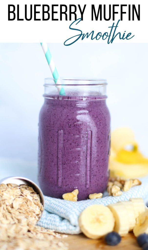 blueberry muffin smoothie recipe blueberry muffin smoothie blue berry muffins freezer smoothie packs pinterest