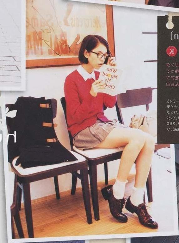 Kiko Mizuhara in preppy outfit ♥