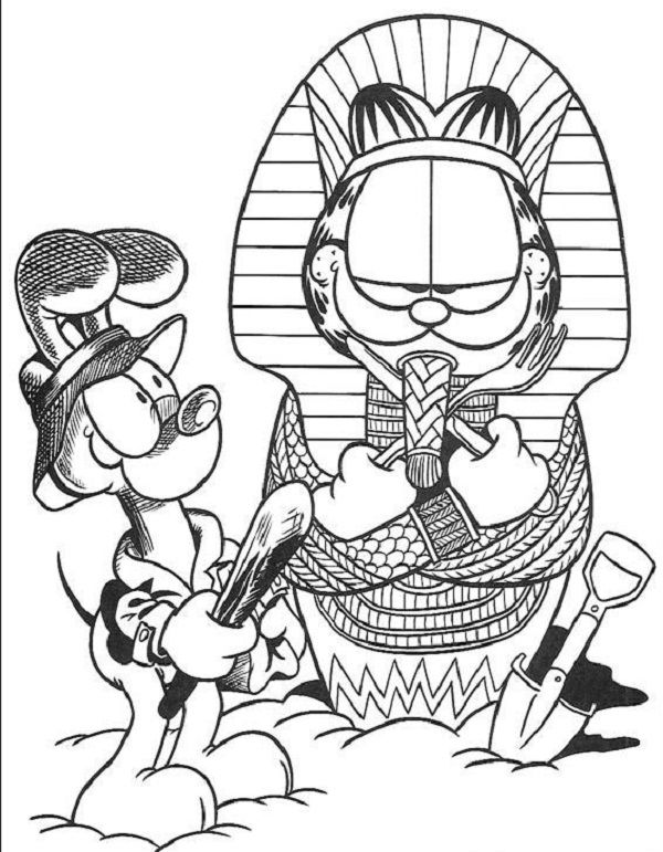 garfield coloring pages free garfield coloring pages free