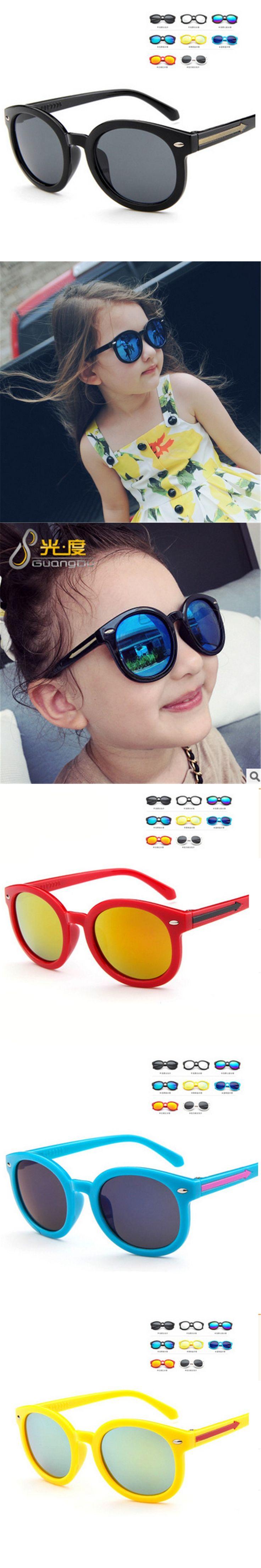 Kids Sunglasses Children Boys Girls Sun Glasses Child Plastic Frame Rivet Colorful Goggles SHADES EyewearMecol 2016 $1.4