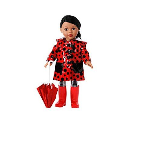"Alexander Girlz Rainy Day Doll Set - 18"" Ethnic African American Doll with Black Hair & Red Raincoat & Umbrella Alexander Doll Company - Madame Alexander http://smile.amazon.com/dp/B00NYAVEGC/ref=cm_sw_r_pi_dp_NTRdxb02WR6KH"
