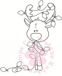 C.C. Designs Reindeer Lights Rubber Stamps  for so many more look on Helga's color pages