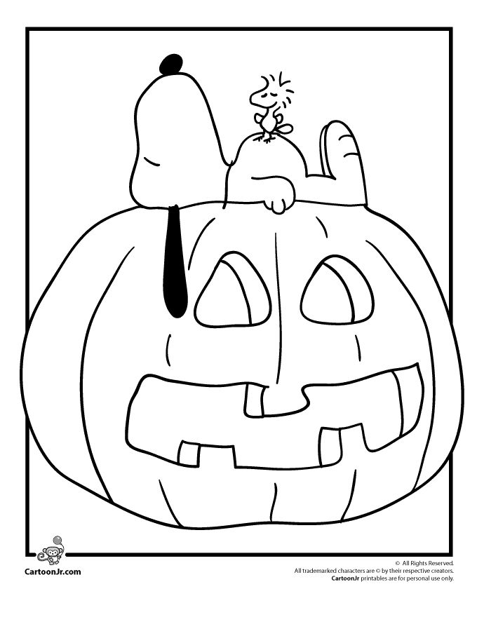 its the great pumpkin charlie brown coloring pages snoopy woodstock and a jack o