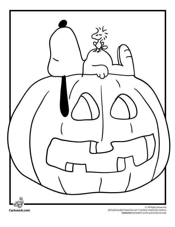 cartoon pumpkins coloring pages - photo#9