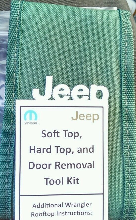 2007 - 2015 OEM MOPAR JEEP WRANGLER SOFT HARD TOP DOOR REMOVAL TOOL KIT W/ CASE #Jeep