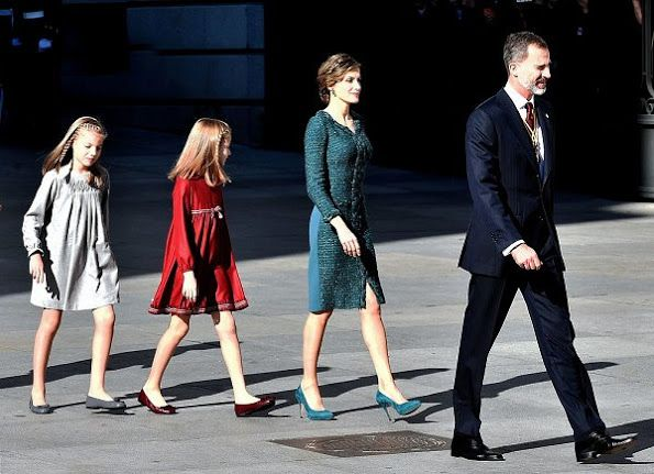 On 17 November 2016, King Felipe, Queen Letizia, Princess Leonor and Princess Sofia attend opening ceremony of the term of office held at the Lower House in Madrid, Spain. Spain's Prime Minister Mariano Rajoy will begin a second term in office, this time with a minority government after a parliamentary vote ended a 10-month political deadlock following two inconclusive elections.