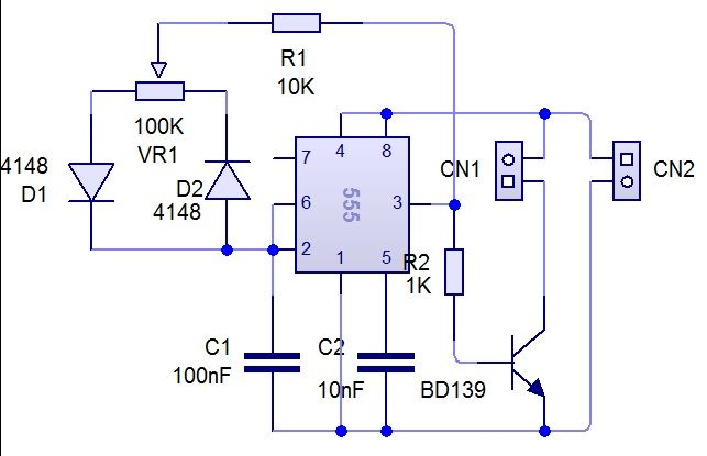 PWM ( for motor) Electronic circuit projects, Power