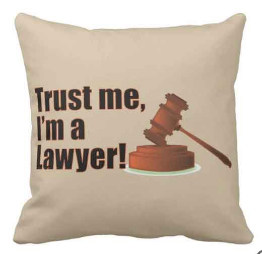 Trust Me I'm A Lawyer graphic cushion. Perfect for lawyers, solicitors, and barristers alike.This design is available on may more gifts, all of which are customisable to suit your needs.