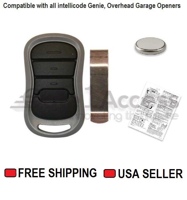 G1t Bx Compatible Genie 3 Button Mini Keychain Intellicode Remote 38501r 2 Pak Garage Door Opener Remote Remote Sliding Gate