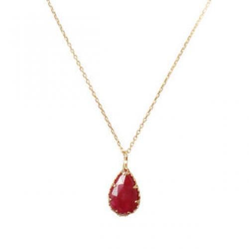 Ruby Drop Necklace