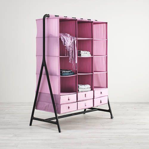 Wardrobe + SKUBB organizer hangy things --> IKEA Catalog 2015