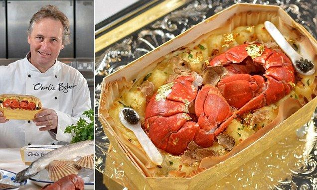It certainly beats microwave lasagne! Chef create world's most expensive ready meal complete with oysters, gold leaf and Dom Perignon champagne... and £314 price tag