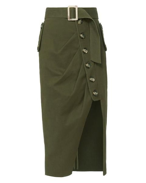 Military Button-Down Skirt