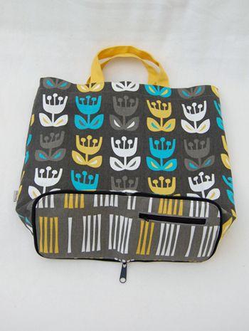 Tuto sac de courses zippé qui se replie en tout petit