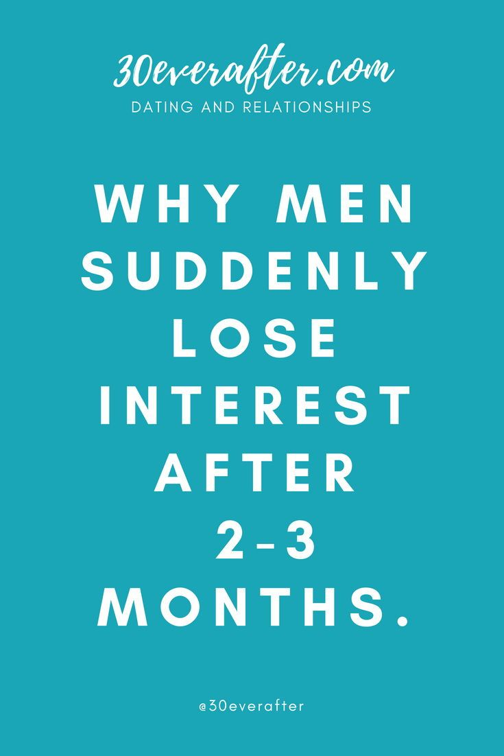 A suddenly does lose man interest why 8 Reasons