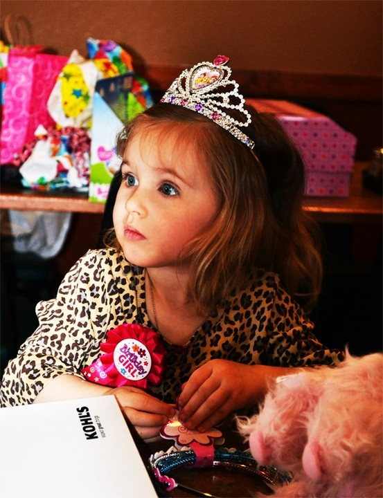 The Birthday Girl caught in a stare.