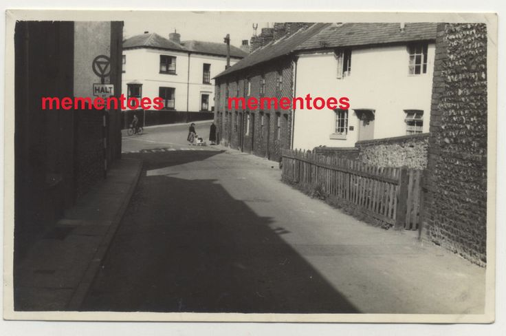 Lewes Sussex c1940s WWII RP Postcard New Road