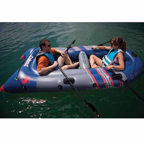Inflatable Boat Set 3-Person Large Outdoor Lake Sea Rafts 2 Oars Heavy Duty NEW #InflatableBoatSet