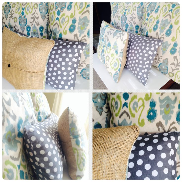 Homemade pillow covers crafted by hand. Colors include lime green, turquoise, and a creamy white with burlap details! These pillows will jazz up any room and are perfect for any decor!  #summer #pillows #yearround #burlap #sewing #diyproject #fabric #easy #envelopecovers #crafts #inspiration #colorwheels #themes
