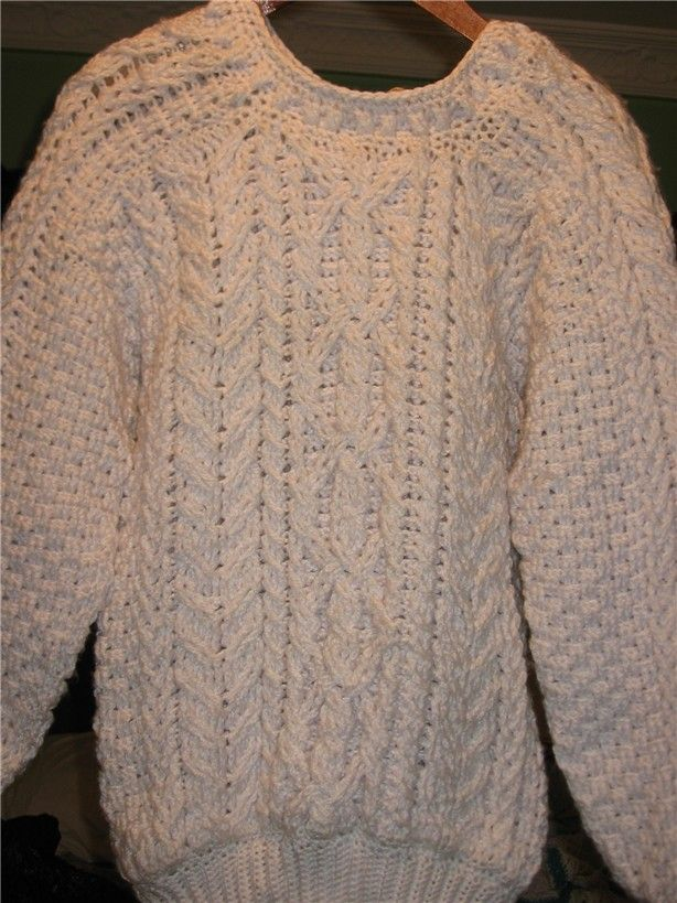 Easy Men's Crochet Sweater Pattern | Crochet & Knit Enthusiasts: Aran (Fisherman's) Sweater Crochet