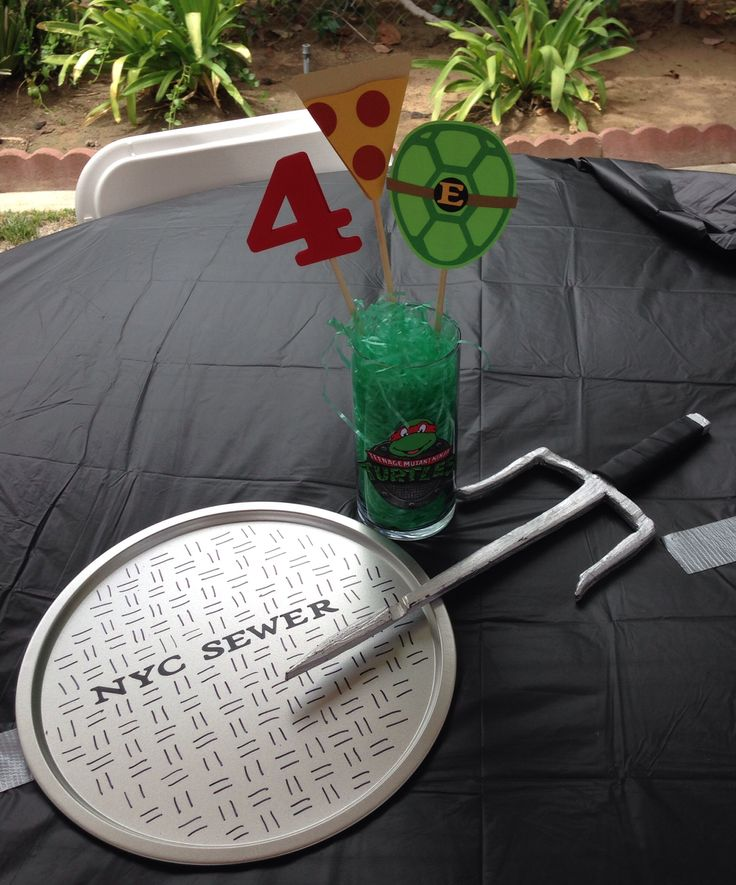 Best ideas about ninja turtle centerpieces on