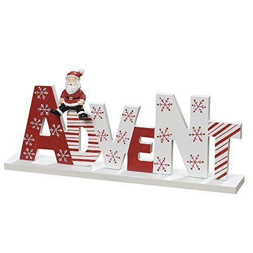 Schriftzug ADVENT rot weiß aus Holz mit Weihnachtsmann Holzbuchstaben dänisch Boltze http://www.amazon.de/dp/B015IXCJ5M/ref=cm_sw_r_pi_dp_-pXuwb1QMG9XX