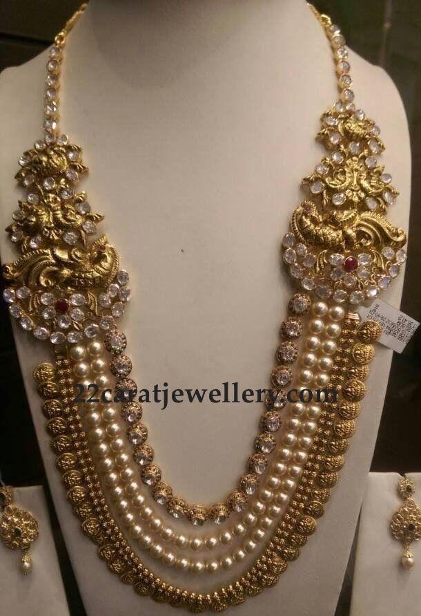 South Sea Pearls and Polki Kasu Mala - Jewellery Designs