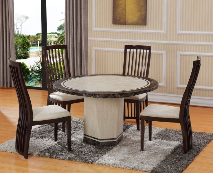 Tenore Round Marble Dining Table - 4 Piece Set - Allied Home Interiors & 75 best Exclusive Furniture images on Pinterest | Bedroom ideas ...