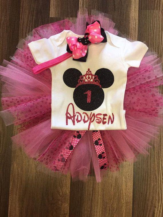 Primer conjunto de cumpleaños Minnie Mouse segundo por Karapouz