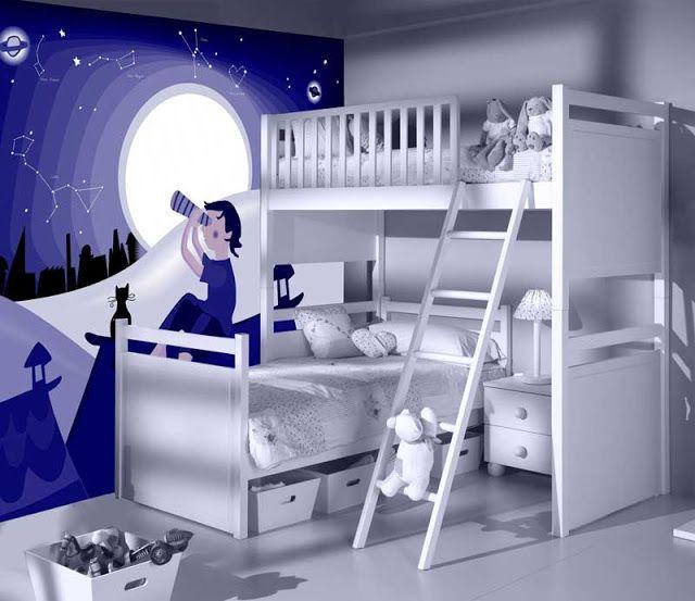 Habitaciones empapeladas y decoracion de dormitorios con for Adhesivos neveras decoracion
