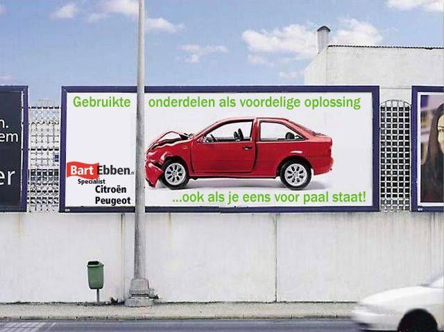 Gebruikte auto onderdelen zijn in veel gevallen een voordelige oplossing. Niet alleen als je een keer autoschade op loopt. Kijk hier voor tweedehands onderdelen voor Peugeot of Citroën personenauto's en bestelwagens: http://bartebben.nl/map/gebruikte-onderdelen.html of http://bartebben.be/aanvraag-onderdelen.html