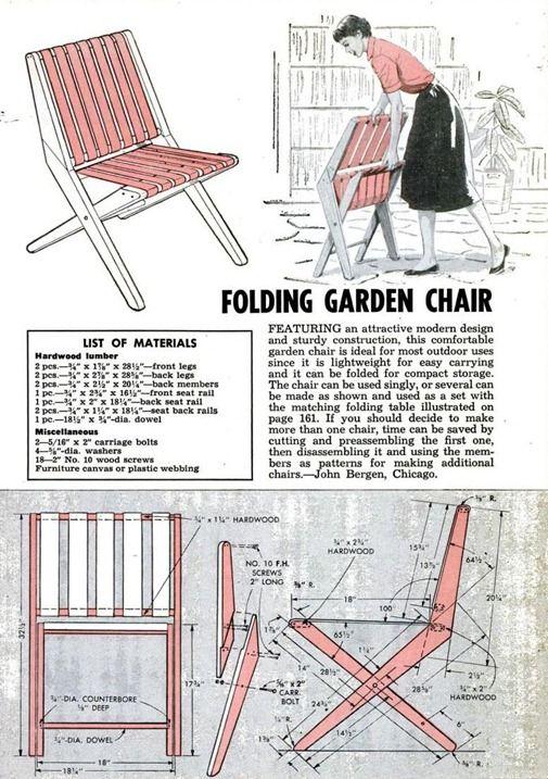 Retro DIY project - Folding GardenChair
